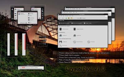 Crystal Noir, ótimo tema para windows XP