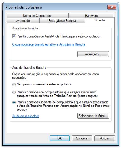 Conectar-se a outro computador usando a Conexão de Área de Trabalho Remota do Windows